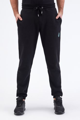 Organic Cotton Logo Embroidery Jogger Pants Gender-neutral in Black