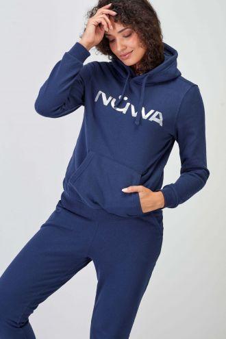 Refletor Logo Navy Sustainable Hoodie Women
