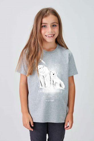 #NM POLAR BEAR - Recycled T-shirt in Grey