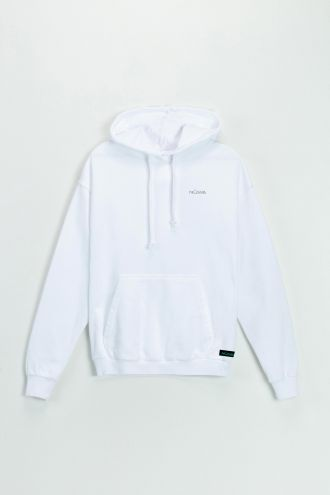 Organic Cotton Hoodie in White