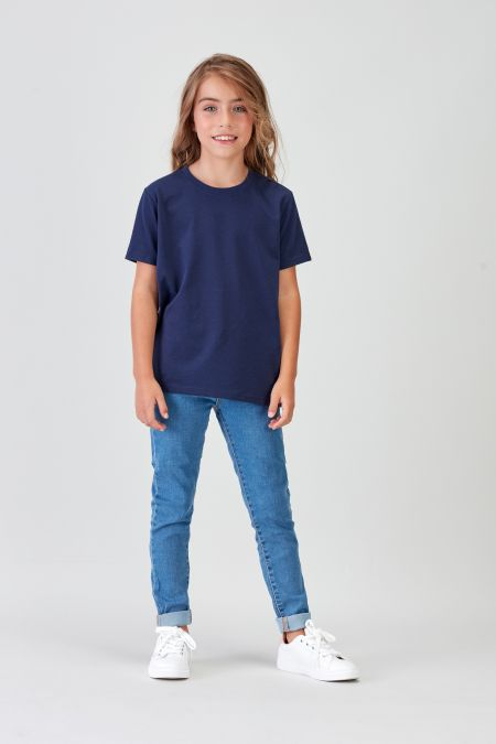 NÜWA Basic - Recycled T-shirt in Navy