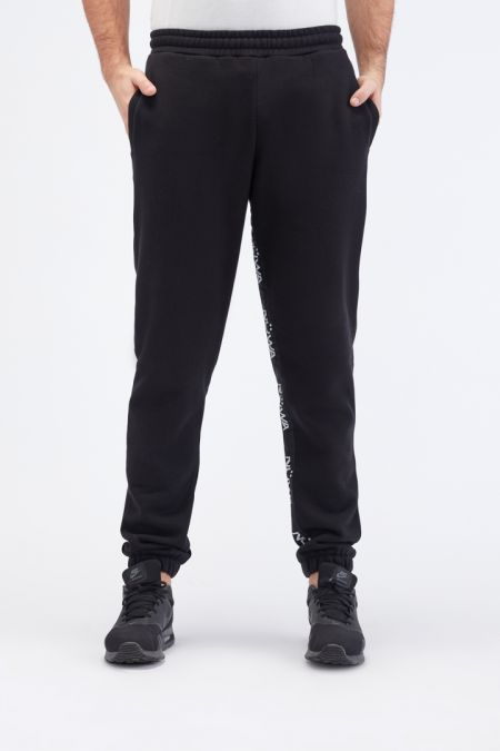 Organic Cotton Brushed-back Jogger Pants Gender neutral in Black