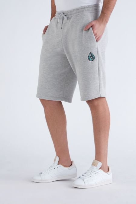 Organic Cotton Logo Embroidery Shorts Gender-neutral in Grey