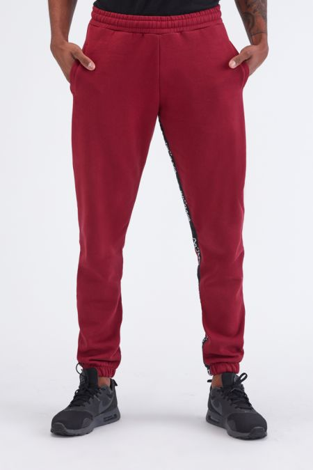 Organic Cotton Brushed-back Jogger Pants Gender neutral in Bordeaux