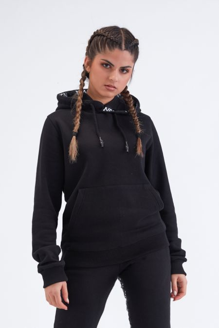 Organic Cotton Brushed Hoodie Gender neutral in Black