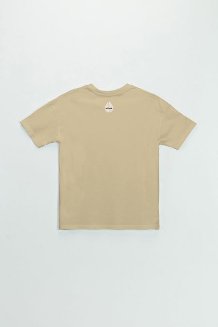 Organic Cotton Graphic T-shirt in Beige
