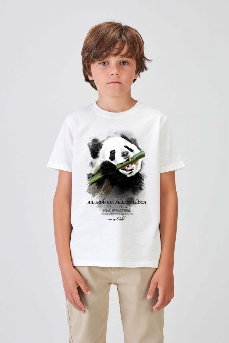 #NM PANDA - Recycled T-shirt in Off White