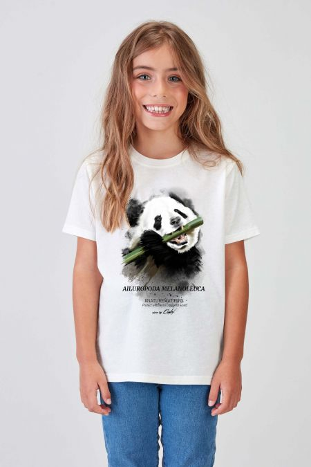 #NM Panda Recycled T-shirt Kids