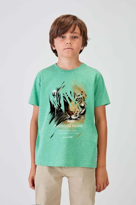 #NM TIGER - Recycled T-shirt in Green