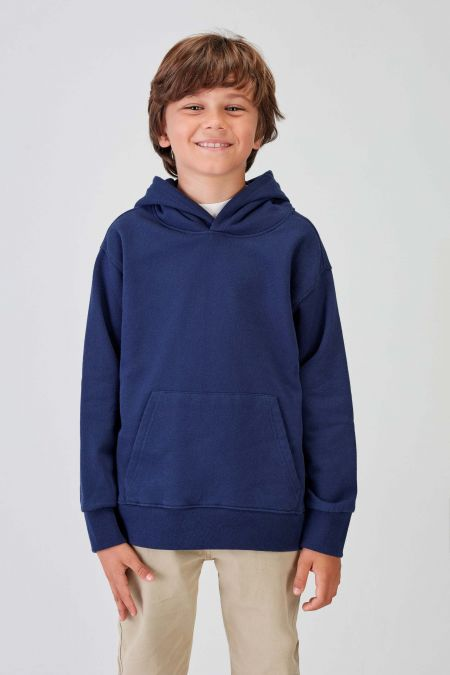NÜWA Basic - Recycled Hoodie in Navy