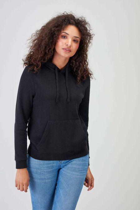 NÜWA Black Sustainable Hoodie Women