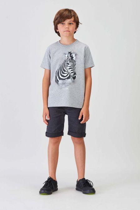 #NM ZEBRA- Recycled T-shirt in Grey
