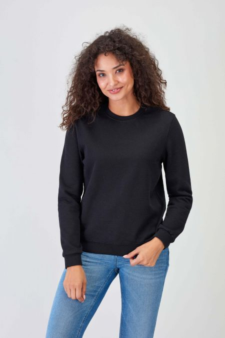 NÜWA Basic Recycled Sweatshirt for Women in Black