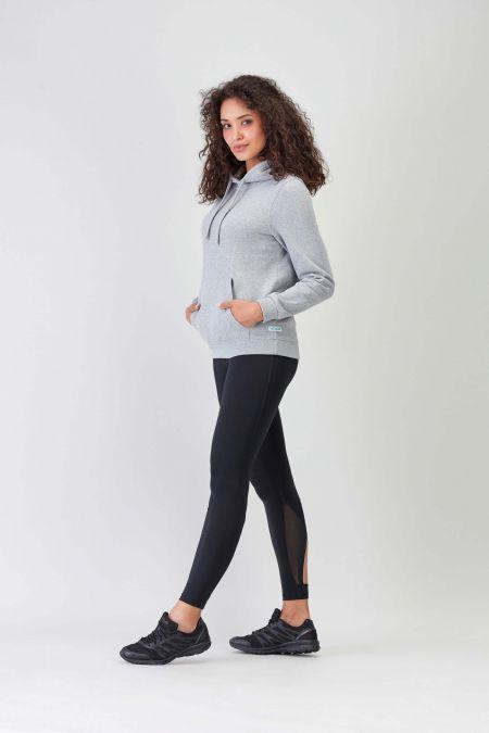 NÜWA Basic Grey Sustainable Hoodie Women