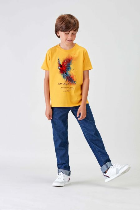 #NM MACAW - Recycled T-shirt in Gold