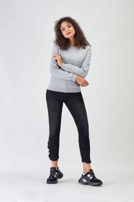 NÜWA Basic Recycled Sweatshirt for Women in Grey