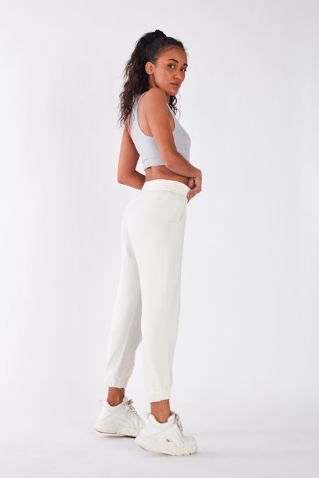 Organic Cotton Lightweight Jogger Pants in Off White