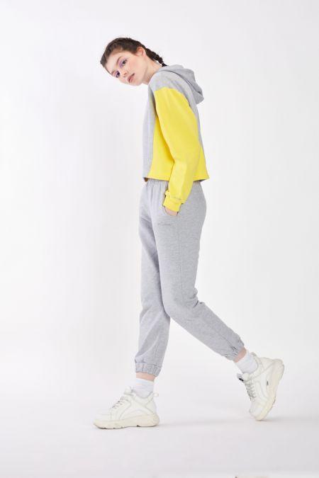 Organic Cotton Lightweight Jogger Pants in Grey