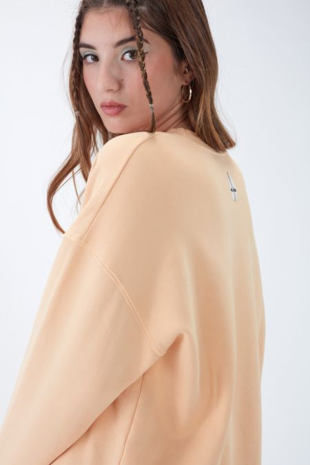 NÜWA Basic Organic Brushed Oversized Sweatshirt in Skin