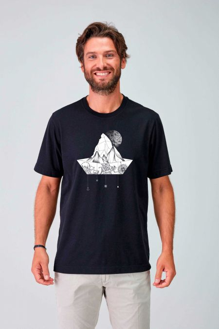 NATUREPAPERBOAT - Recycled Graphic T-shirt for Men