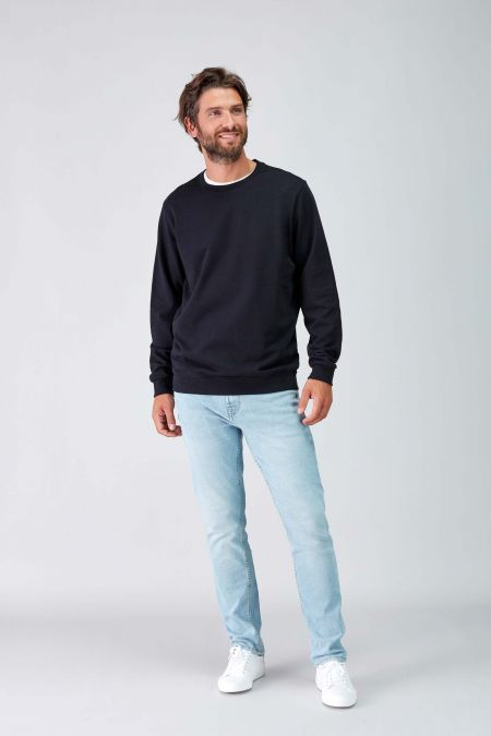NÜWA Basic Black Sustainable Sweat Men