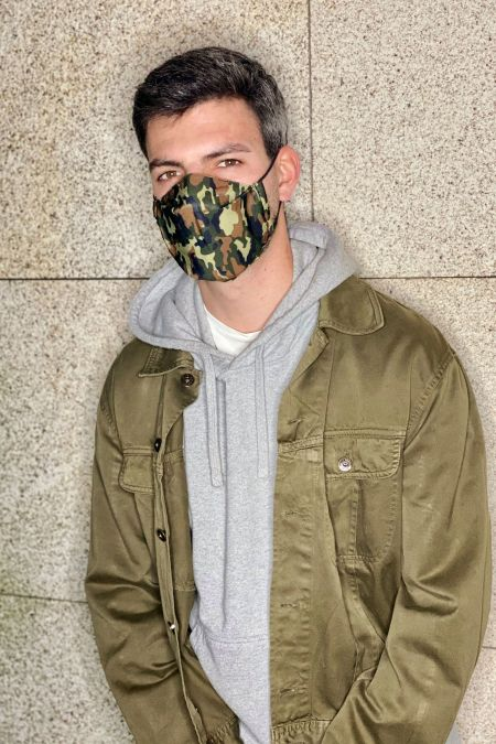 Washable Social Mask - CAMOUFLAGE
