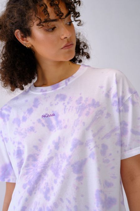 Add Color To Your Life - Organic Cotton Lilac Tie Dye T-shirt