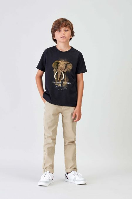 #NM ELEPHANT - Recycled T-shirt in Black