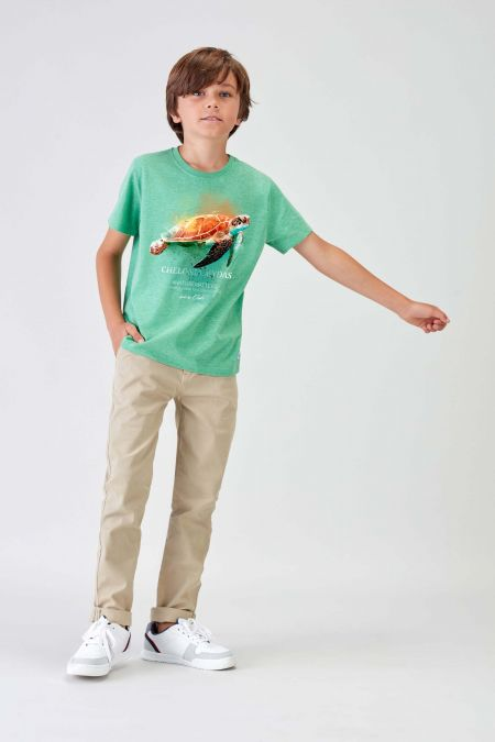 #NM TURTLE - Recycled T-shirt in Green