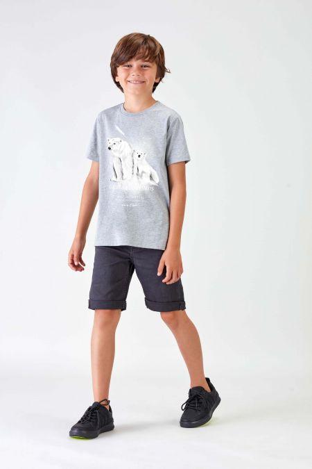 #NM POLAR BEAR - Recycled T-shirt in Grey
