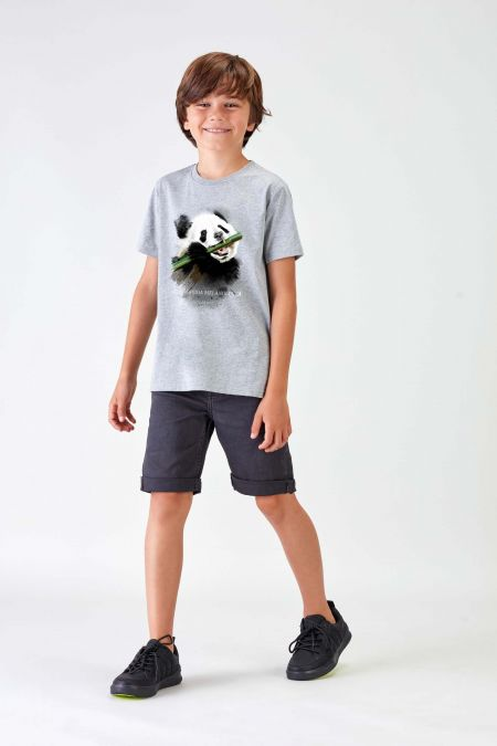 #NM PANDA - Recycled T-shirt in Grey