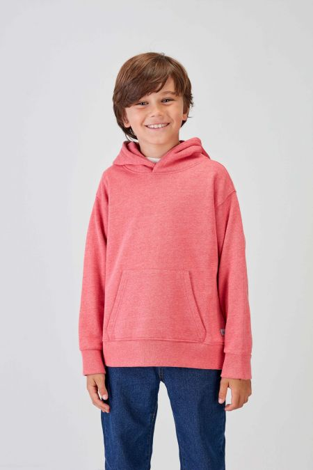 NÜWA Basic  - Recycled Hoodie in Coral