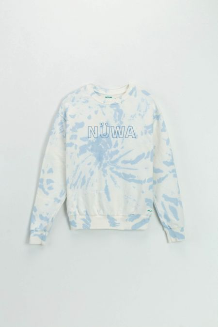 Add Color To Your Life - Organic Cotton Sky Tie Dye Sweatshirt