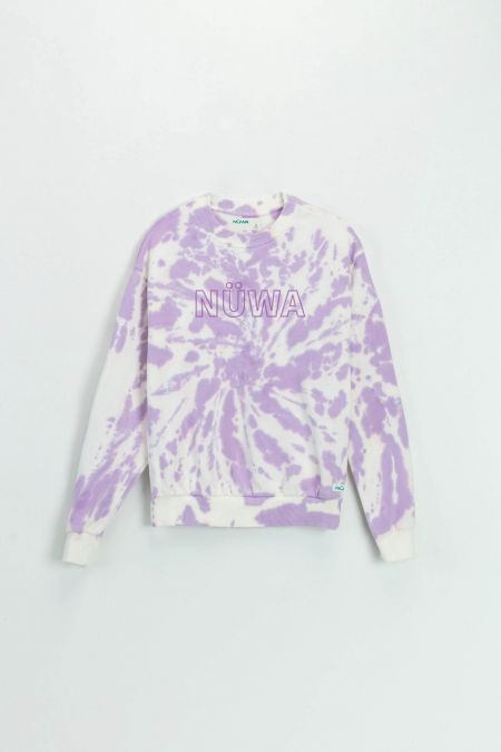 Add Color To Your Life - Organic Cotton Lilac Tie Dye Sweatshirt