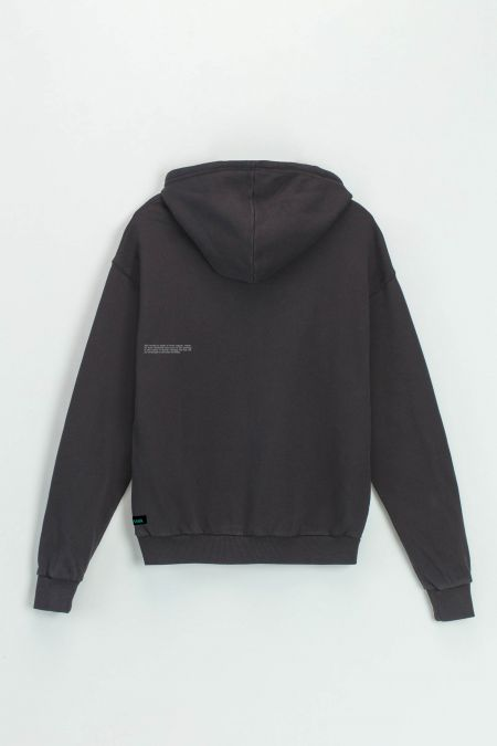Organic Cotton Hoodie in Anthracite Grey