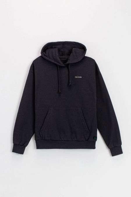 Organic Cotton Hoodie in Black