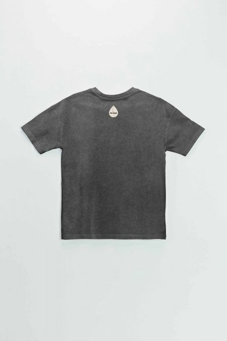 Organic Cotton Graphic T-shirt in Washed Black