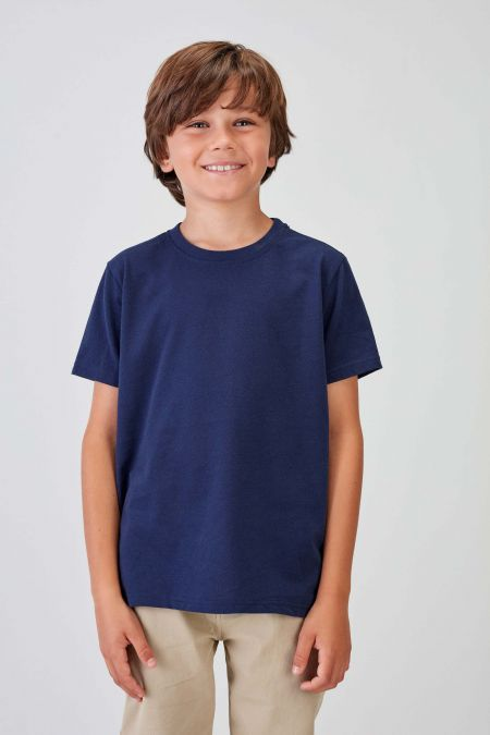 NÜWA Basic - Recycled T-shirt in Navy