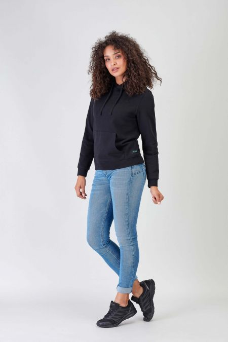 NÜWA Black Sustainable Hoodie Women
