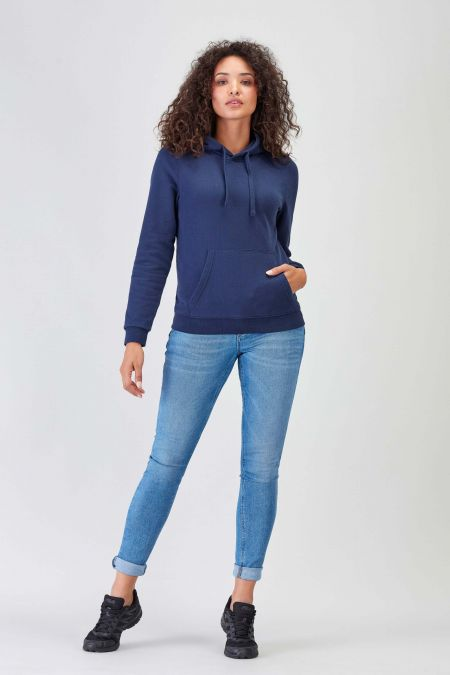 NÜWA Basic Navy Sustainable Hoodie Women
