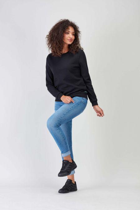 NÜWA Basic Black Sustainable Sweat Women