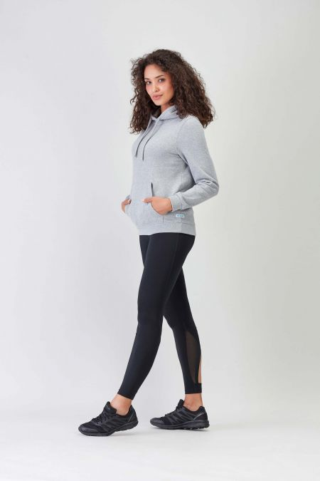 NÜWA Basic Grey Sustainable Hoodie Women