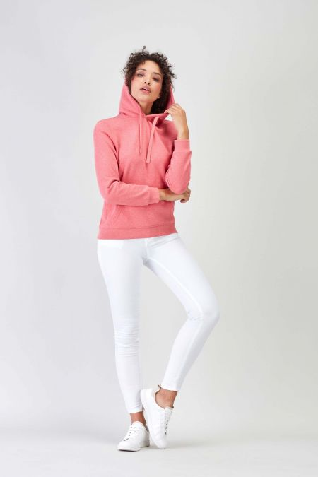 NÜWA Basic Coral Sustainable Hoodie Women