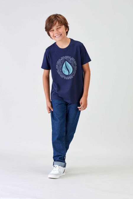 MANTRA - Recycled Graphic T-shirt in Navy