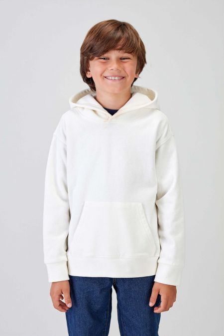 NÜWA Basic - Recycled Hoodie in Off White