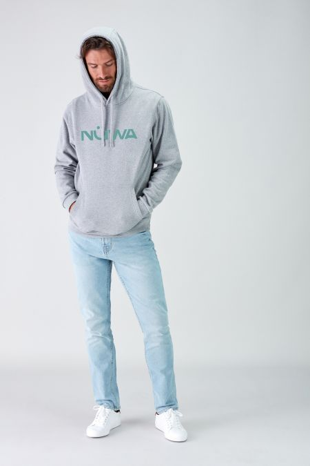 Impact Logo Grey Sustainable Hoodie Men