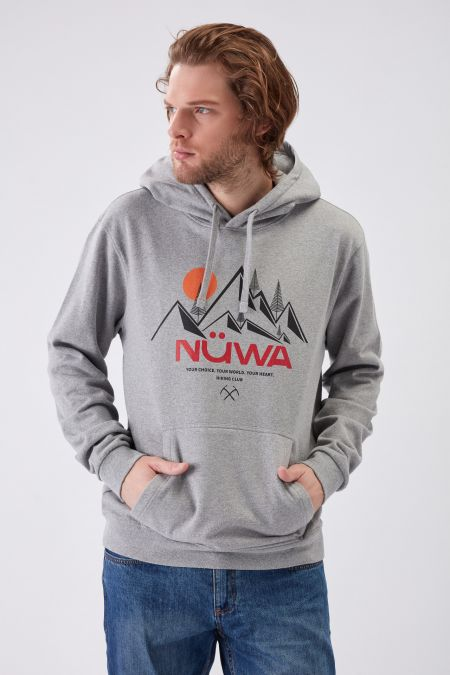 HIKING CLUB Graphic - Recycled Graphic Hoodie in Grey