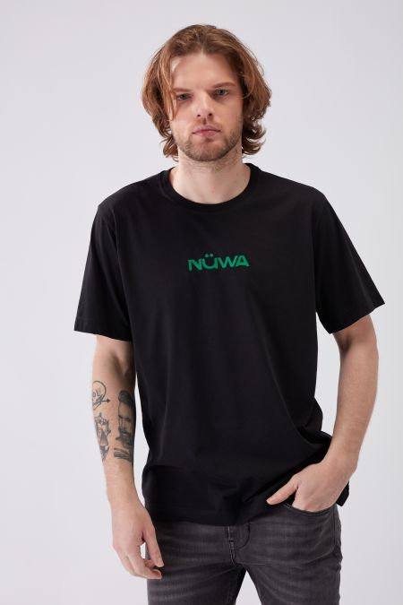 IMPACT - Recycled Regular T-shirt in Black