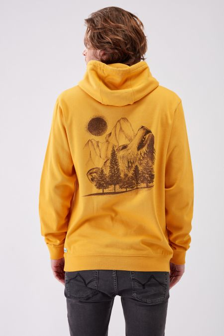 NATUREVOICE - Recycled Graphic Hoodie in Gold