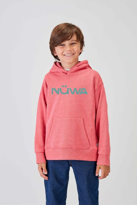 IMPACT - Recycled Hoodie in Coral